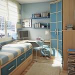 mavi beyaz erkek odasi