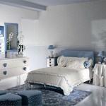 mavi beyaz kiz odasi
