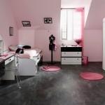 modern dekorasyonlu genc kiz odasi