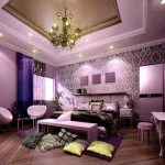 mor renkli yatak odalari