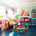 rengarenk ev dekorasyon fikirleri