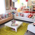 renkli modern ev dekorasyonu