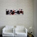 ruby modern cicek desenli duvar kagidi