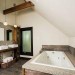rustik banyo dekorasyon modelleri