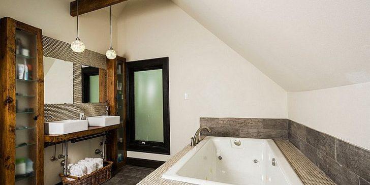 Banyolarda Etkileyici Rustik Stil Dekorasyonlar