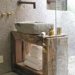 Rustik Dekarasyon Banyo