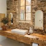 rustik banyo dekorasyonu