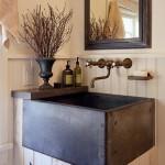 rustik dekorlu banyo modelleri