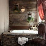 rustik tarz banyo dekorasyonu