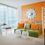 turuncu yesil ve beyaz dekorasyon