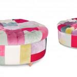 yeni moda renkli dekoratif puflar