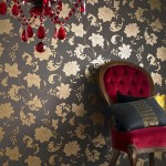 klasik desenli salon duvar kagidi