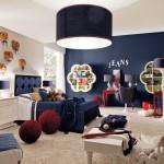 modern dekorasyonlu genc erkek odasi