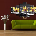 yedi parcali dekoratif tablo