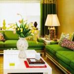 Sarı ve Yeşil Modern Koltuk Takımı Modelleri 2016