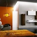 turuncu banyo dekorasyon fikirleri