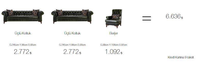 Aldora londra salon takımı fiyatları