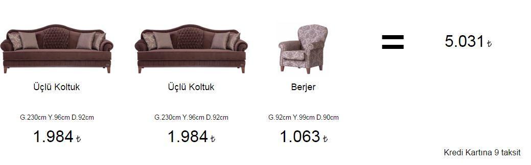 Aldora novel salon takımı fiyatları