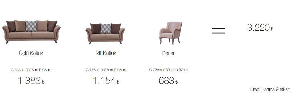 Aldora stella salon takımı fiyatları