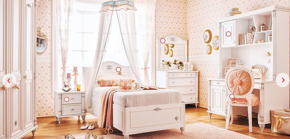 Çilek Genç Odası Takımları Romantic Çekirdek Oda 3547 TL. Taksitli 3813 TL dir.