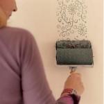 Desenli rulo boya uygulaması