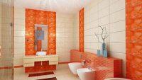 Turuncu Banyo Dekorasyonu Fikirleri