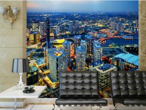 3D Duvar Kağıdı Modelleri Şehir Manzarası