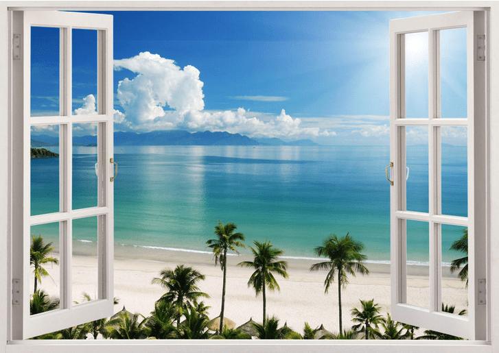 3D Duvar Kağıdı Modelleri Bulut Deniz Manzarası