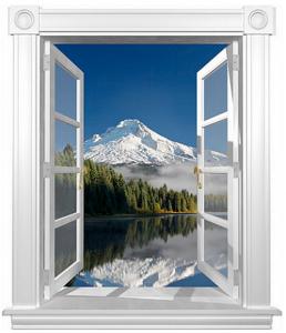 3D Duvar Kağıdı Kaplama Dağ Manzarası (Karlı Dağ)