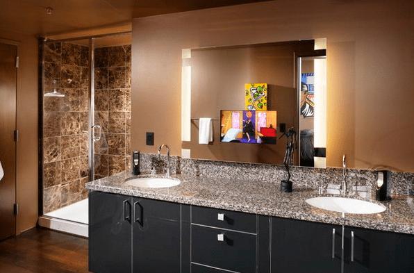 En Şık Banyo Aynası Tasarımları