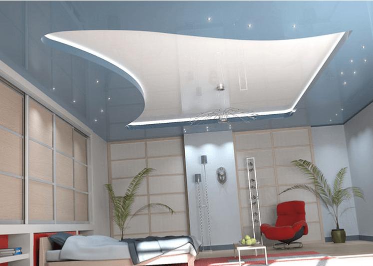 Dekoratif Streç Tavan Kaplaması Modelleri