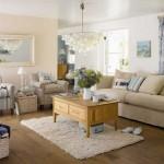 Apartman Aile odası krem zemin modelleri