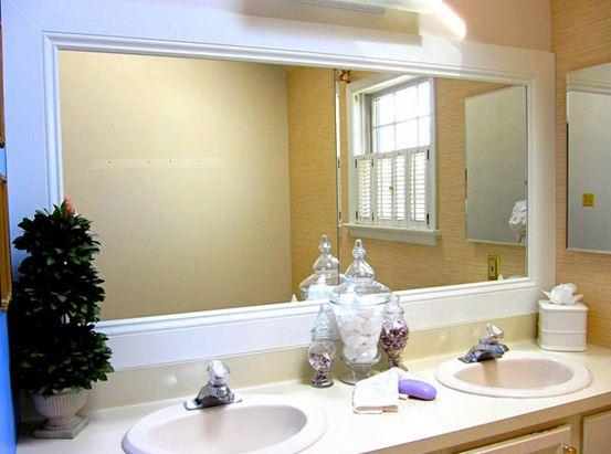 Dekoratif Büyük Banyo Aynaları