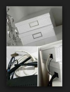 Dekoratif kutu ile kablo gizleme yontemi