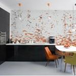 Modern Mutfak Duvar Kağıdı Desenleri