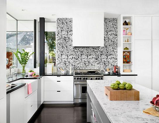Mutfak için Modern Duvar Kağıdı Desenleri