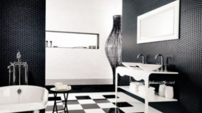 Siyah Beyaz Banyo Fayans Modelleri