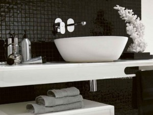 Siyah beyaz banyo fayansları 2016