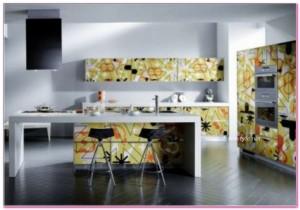 Desenli Mutfak Dolapları Modelleri