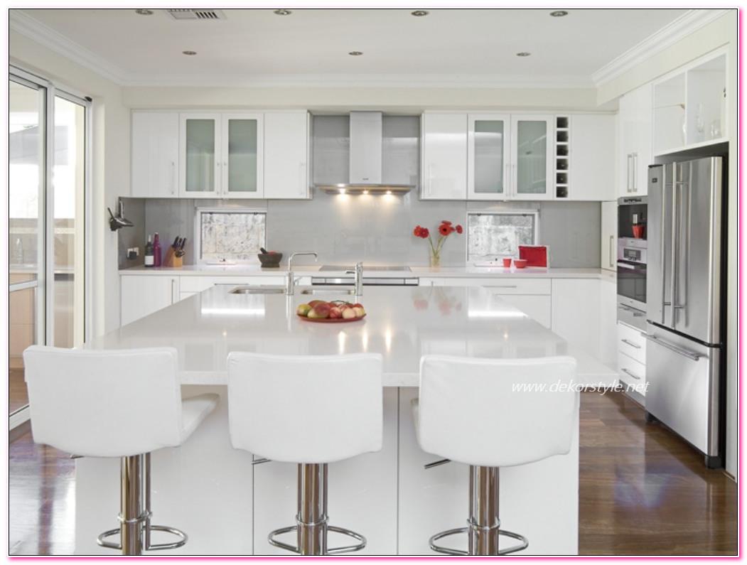 Modern beyaz mutfak dolab dizayni en son dekorasyon modelleri - Beyaz Mutfak Dolab Modelleri