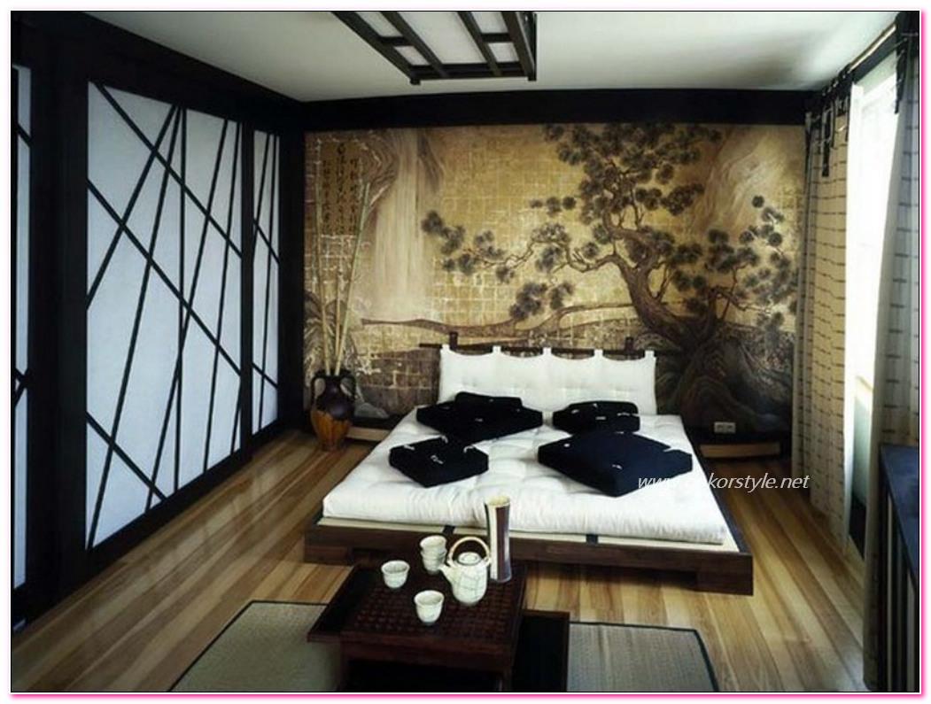 En trend Japon stili yatak odaları
