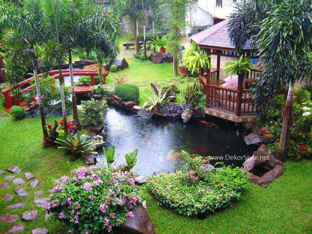 Birbirinden k dekoratif bah e dekorasyon fikirleri for Pond ideas for small yards