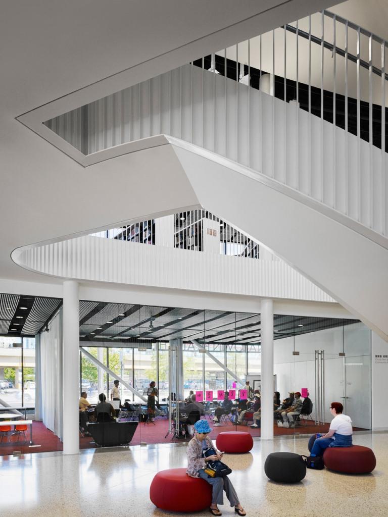 Chicago Chinatown Kütüphanesi iç dizayn ilkeleri