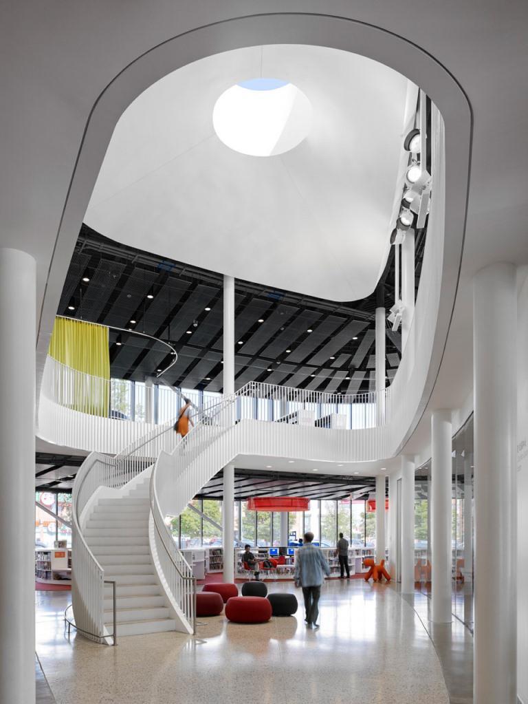 Chicago Chinatown Kütüphanesi iç tasarımı