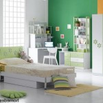 Yeşil Duvarlı Genç Odası Fikirleri