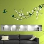 Yeşil Tonlarda Duvar Rengi ve Yeşil Duvar Stickerı
