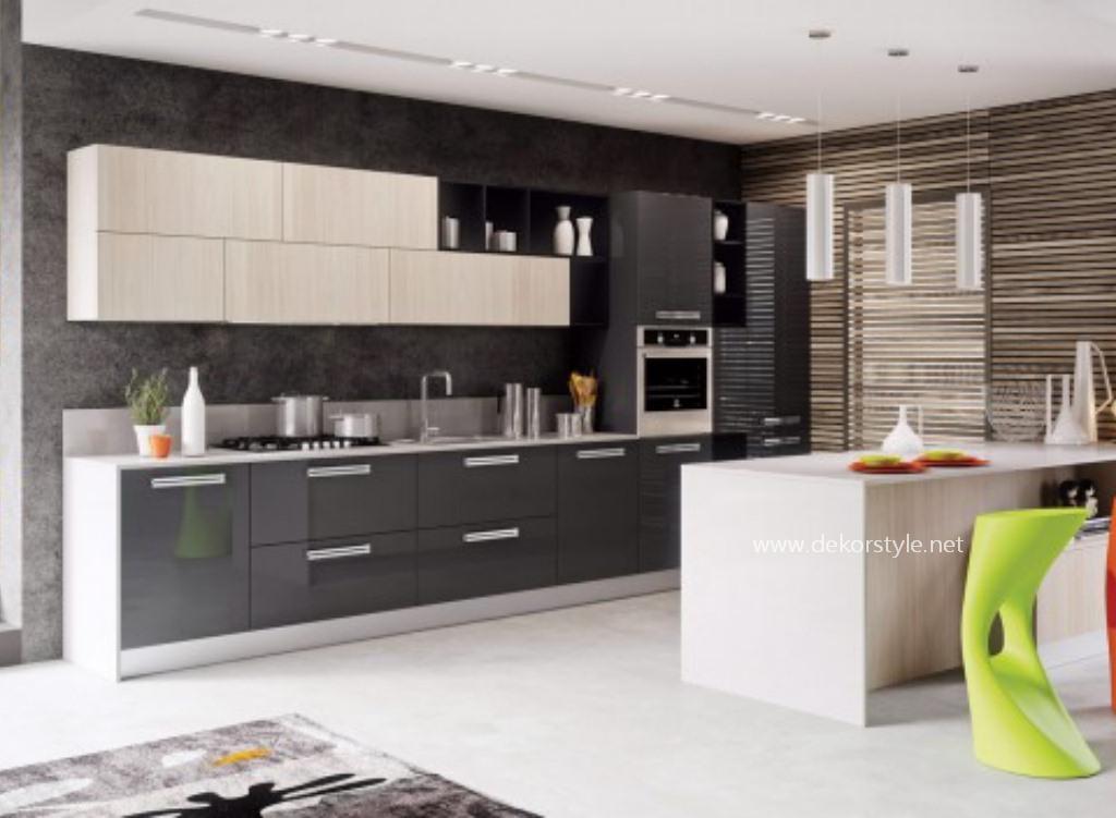 Modern mutfak dekorasyon fikirleri dekorstyle for 2 1 salon dekorasyonu