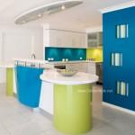 Mutfaklarda Mavi ve Yeşilin Eşşiz Uyumu
