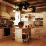 Retro Ada Mutfak Tasarımı