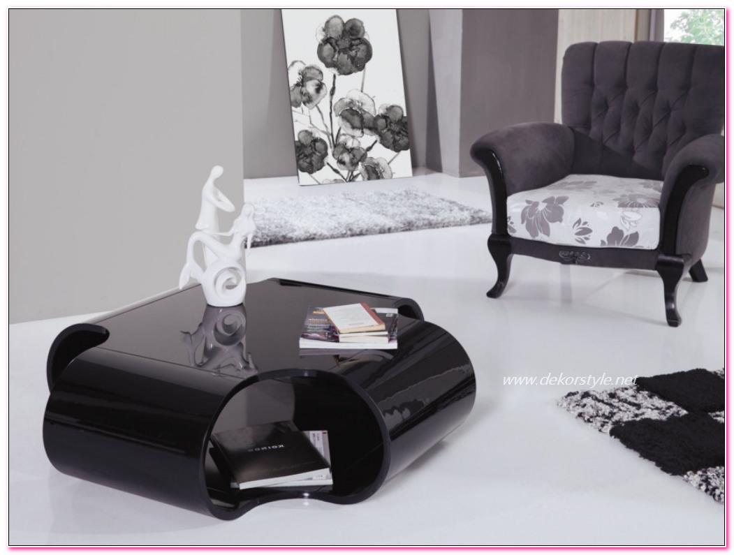 Siyah Modern Orta Sehpa Modelleri